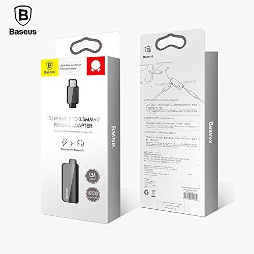 2 in 1 lightning adapter f r iphone 7 7 plus baseus. Black Bedroom Furniture Sets. Home Design Ideas