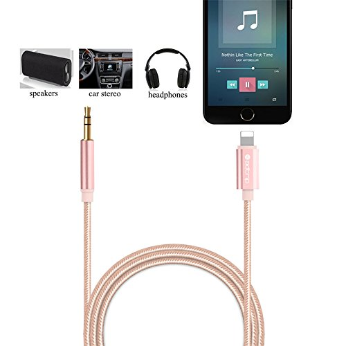 aux kabel f r iphone 7 adtrip lightning an 3 5 mm auto. Black Bedroom Furniture Sets. Home Design Ideas