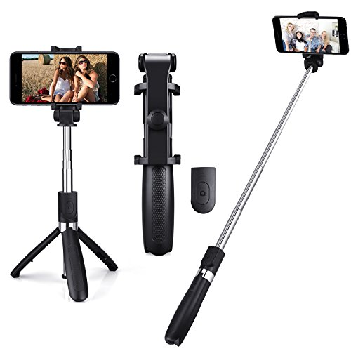 aomtro mini selfie stick bluetooth stativ f r smartphone. Black Bedroom Furniture Sets. Home Design Ideas