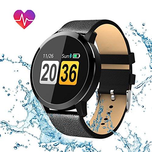 smartwatch uhr intelligente armbanduhr hizek armband sport mit herzfrequenz kamera schrittz hler. Black Bedroom Furniture Sets. Home Design Ideas