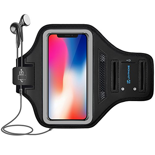 iphone x armband lovphone sport running fitness gym sportband schutzh lle f r iphone x mit. Black Bedroom Furniture Sets. Home Design Ideas