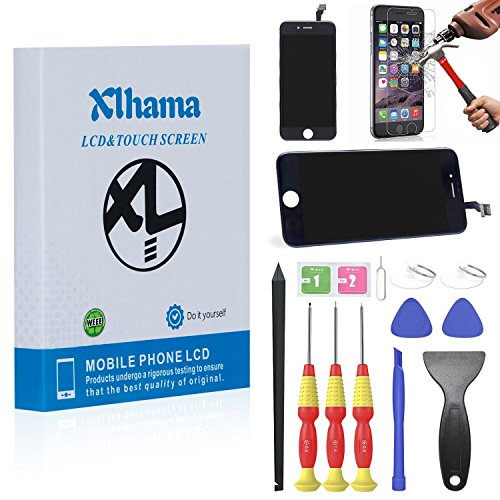 xlhama lcd display ersatz bildschirm f r iphone 6 schwarz reparatur touchscreen bildschirm. Black Bedroom Furniture Sets. Home Design Ideas
