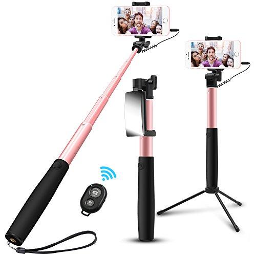 agedate selfie stick bluetooth ausziehbar selfie stangen. Black Bedroom Furniture Sets. Home Design Ideas