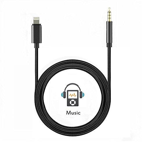 iphone 8 x 7 aux kabel lightning auf 3 5 mm stecker audio. Black Bedroom Furniture Sets. Home Design Ideas