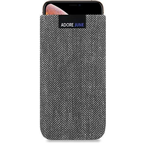 fitBAG Rave Smaragd Handytasche Tasche aus Textil-Stoff mit Microfaserinnenfutter f/ür Apple iPhone 11 Made in Germany H/ülle mit Reinigungsfunktion