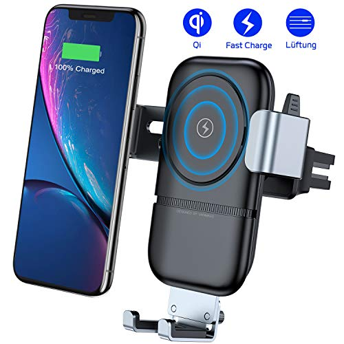vanmass handyhalterung auto wireless charger auto l ftung. Black Bedroom Furniture Sets. Home Design Ideas
