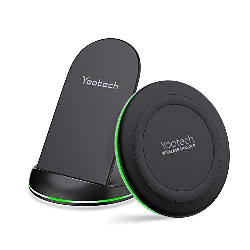 yootech wireless charger 2 pack qi zertifiziert wireless. Black Bedroom Furniture Sets. Home Design Ideas