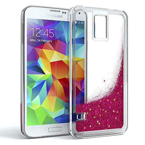 LeYi Hülle Galaxy S5 Glitzer Handyhülle mit HD Folie ...